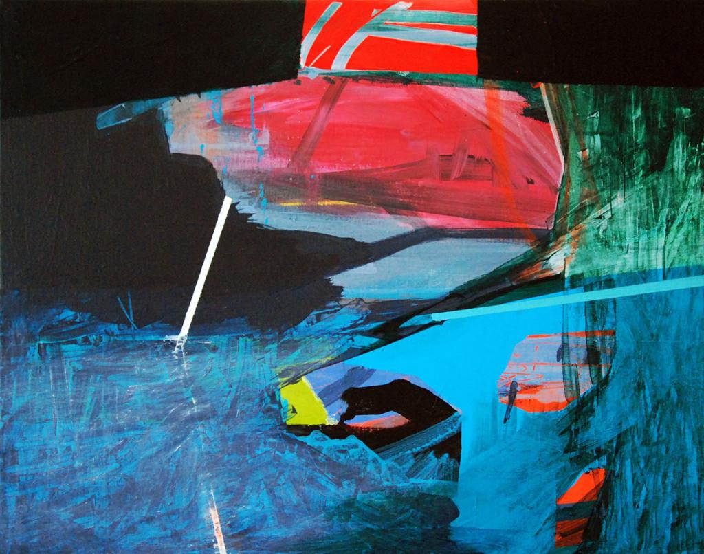 Horizonte II_40x50cm_akryl na płótnie